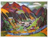 Davos, Ernst Kirchner, Art Print