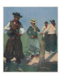 Argentinian Gauchos Prepare the Stimulating Herbal Drink Yerba Mate, Giclee Print