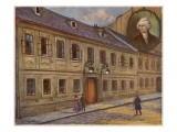 Joseph Haydn His Vienna Home, Later Turned into a Haydn Museum, Giclee Print