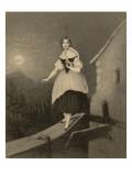 Jenny Lind Soprano Singer, Seen Here in the Role of Amina in Bellini's Opera 'La Sonnambula', Giclee Print