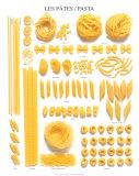 Pasta / Les Pates Chart Art Print