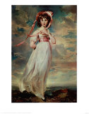 Pinkie, Sarah Barrett Moulton, 1794, Art Print, Thomas Lawrence