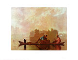 George Caleb Bingham - Fur Traders Descending the Missouri poster