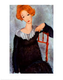 Woman with Red Hair, Amedeo Modigliani, Art Print