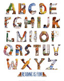 Reading is Fun Alphabet, Art Print