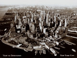 New York, New York, View to Downtown, Art Print