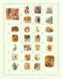 Peter Rabbit Alphabet, Art Print