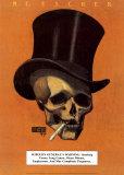 Skull with Cigarette, 1885, Vincent van Gogh, Poster