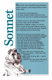 Sonnet Poetry Form Poster
