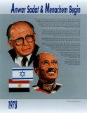 Nobel Peace Prize Winners, 1978 - Anwar Sadat & Menachem Begin Poster