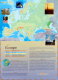 Continent of Europe Wall Poster