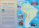 South America Continent Poster