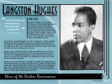 Stars of the Harlem Renaissance - Langston Hughes Poster