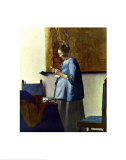 Woman in Blue Reading a Letter, c.1662-1664, Art Print, Vermeer