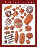 Italian Bread Chart Poster