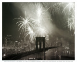 Fireworks in Manhattan Art Print