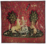 Detail from The Lady with the Unicorn: Sight Tapestry, Giclee Print