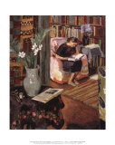 Vanessa Bell - Interior with Artist's Daughter, Art Print