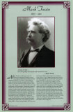 Mark Twain Biographical Wall Poster American Authors of the 19th Century