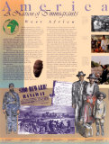 America: A Nation of Immigrants - West Africa (slavery) Wall Poster