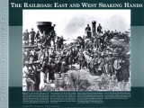History Through a Lens - The Railroad: East and West Wall Poster