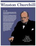 Heroes of the 20th Century - Winston Churchill Wall Poster