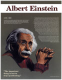 Heroes of the 20th Century - Albert Einstein Wall Poster