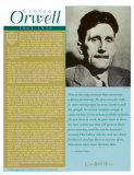 Great British Writers - George Orwell Wall Poster