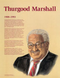 Great Black Americans - Thurgood Marshall Poster