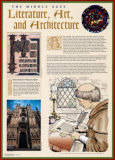 The Middle Ages- Literature, Arts & Architecture Wall Poster