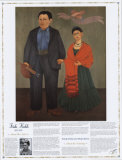 Masterworks of Art - Frieda Kahlo - Frieda and Diego Rivera Wall Poster