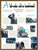 America in the 20th Century - World War II, 1939-1945, Art Print