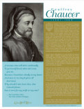Great British Writers - Geoffrey Chaucer Wall Poster