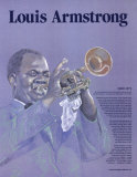 Great Black Americans - Louis Armstrong Wall Poster
