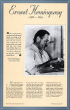 American Authors of the 20th Century - Ernest Hemingway Poster