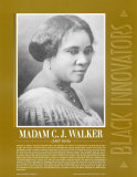 Madam C. J. Walker, Great Black Innovators Art Print