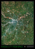Kansas City from Space, Art Print