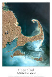 Cape Cod from Space Art Print