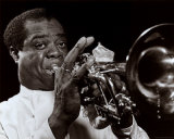 The Golden Age of Jazz - Louis Armstrong Fine Art Print