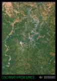Cincinnati from Space - ©Spaceshots Art Print