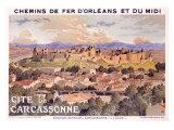 Eugene Grasset, Cite de Carcassone, Giclee Print