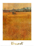 Oat field with a view of Arles, Art Print, Vincent Van Gogh