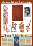 Ancient African Civilizations - Ghana / Mali / Songhai Wall Poster