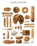 Natural Breads Chart Art Print