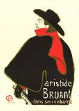 Aristide Bruant Dans Son Cabaret, Lithograph, Henri de Toulouse-Lautrec
