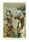 Two Hopi Indians with Bird Head Masks Art Print