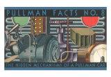 Pullman Facts - The Hidden Mechanisms of a Pullman Car, Art Print