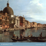 Venice: the Upper Reaches of the Grand Canal with S. Simeone Piccolo, c.1738 (detail), Art Print