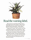 Read the Warning Label Laminated Poster