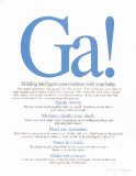 Ga! Conversations with Baby, Laminated Poster